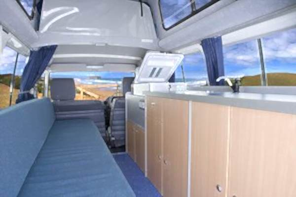 Boomerang Bushcamper Australia hire internal view