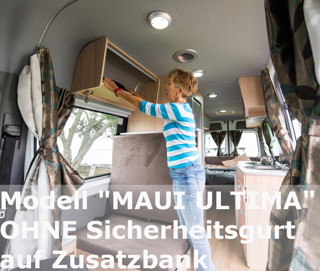 Maui Ultima Plus Campervan Australia with child seat anchor points hire